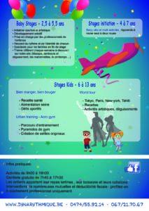 Stages Dynarythmique du 16/02 au 20/02/2015 et du 07/04 au 17/04/2015
