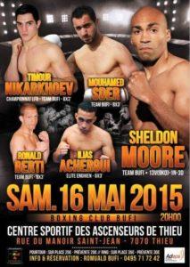Soirée boxe organisée par le BC Bufi le 16 mai 2015