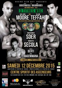 Boxing Fight Night WBC le 12/12/15 au Centre sportif des Ascenseurs.