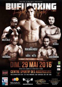 Gala de boxe le 29 mai 2016 au Centre sportif des Ascenseurs
