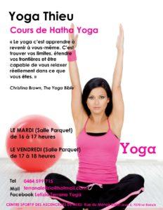 Nouveau au Centre sportif, des cours de yoga à partir de septembre.