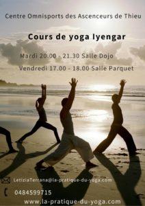 Cours de yoga au Centre sportif tous les mardis et vendredis