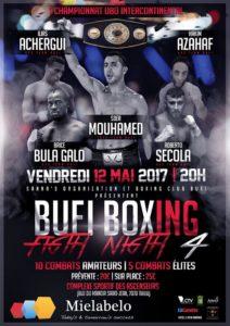 Gala de boxe le 12 mai 2017 au Centre sportif des Ascenseurs