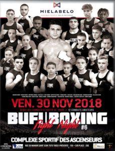 Fight Night #6 le 30 novembre 2018 au Centre Sportif des Ascenseurs
