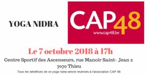 Cours de Yoga au profit de Cap48 ce dimanche 7 octobre 2018