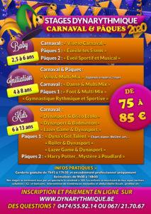 Stages Dynarythmique durant les congés de carnaval et de Pâques !