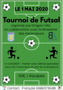 Tournoi de Futsal le 1 mai 2020